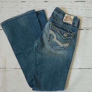 Big Star Sweet Ultra Low Rise Flare Jeans
